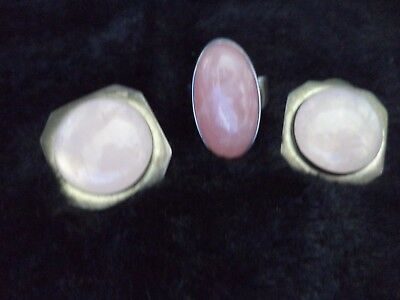 Ladies Sterling Silver Rose Quarts Collection Ring Sz 6 Earrings Estate Jewelry 4
