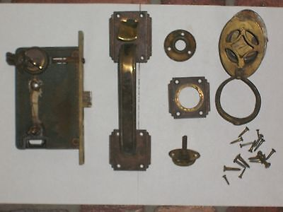 Antique Thumb Lever Entry Lock W/Keys 2