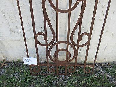 Antique Victorian Iron Gate Window Garden Fence Architectural Salvage #845 4