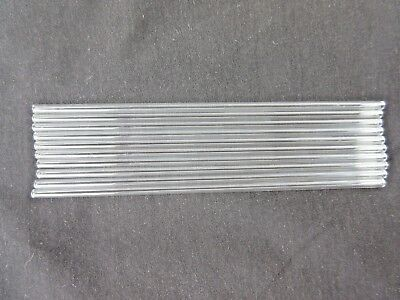 "5 Corning Glass Pyrex 6"" Tubes 4mm OD 3mm ID Tubing .5mm Thick Wall 172-NS USA 2"