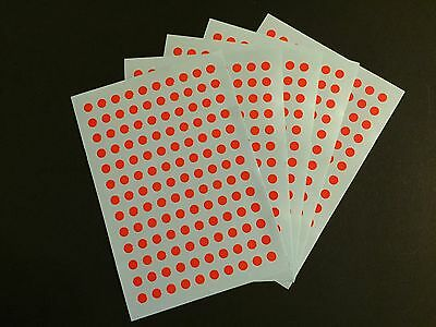 3250pcs X 5mm Round Circle Spot Dot Marker Stickers- 5 Colors Sticky Adhesive