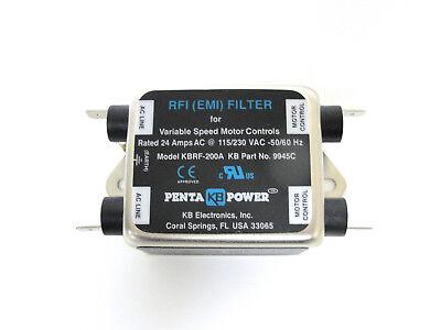 KB Electronics KBRF-200A RFI (EMI) filter 9945 2