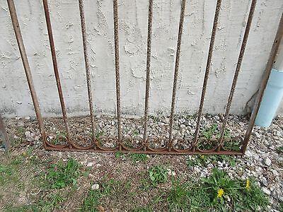 Antique Victorian Iron Gate Window Garden Fence Architectural Salvage Door #318 4