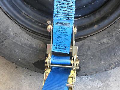 4 x Car Carrying Ratchet Tiedown Trailer  Car Wheel Harness Tow truck Restraint 7