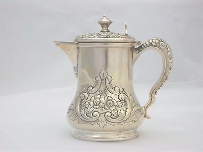 Exquisite Victorian Silverplate Honey Pitcher Jug Repousse Scroll Design Meriden 2