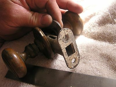 Vintage Antique Ornate Door Knob Set and face plates 5