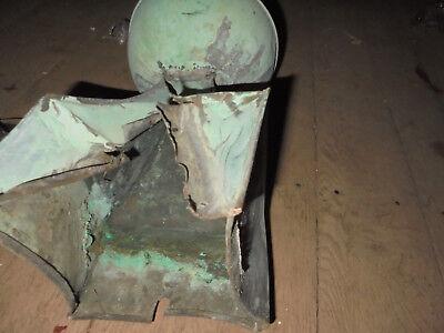 14650 antike WETTERFAHNE Turmspitze Kupfer 115cm repabed. Vint Wind paine copper