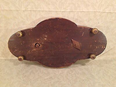 Antique Wooden Center Piece with Veneer Inlay Glass and Embroidery Bead Design 12 • CAD $242.45
