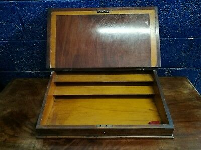 Stunning ~Antique ~Writing Slope ~Leather Top ~Mahogany ~VGC 6