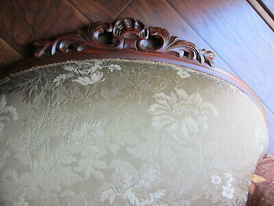 Vintage Carved Mahogany Armchair.(Sort Back) 9