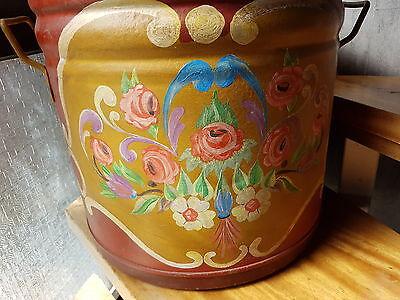 Alter Waschkübel - ca. 100 Jahre+Blumenübertopf - mit Bauernmalerei+ Deko !!.. 2