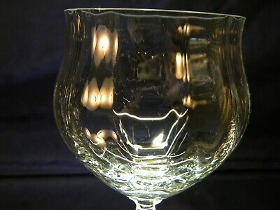 SET of 6 BEAUTIFUL Large Clear Water Wine Goblets Glasses 5