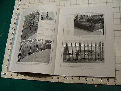 vintage Original Catalog: ENTRPRISE WROUGHT IRON fences-gates-arches, 1931 or so 5