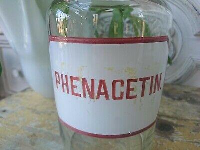 Apotheker antik Glas Flasche Apothekerflasche Etikett gemalt super als Vase 4