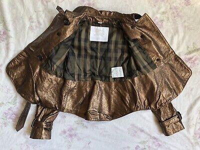 BURBERRY Children Mädchen Jacke Leder Gr.122 6-7 years girls leather jacket belt 11