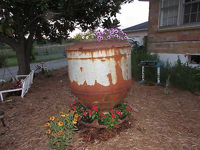 Antique Hog Feeder Flower Tower Planter Yard Art Upcycle Recycle  #2462 3