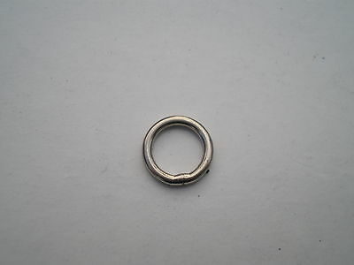 250 PCS 400 LBS TEST. I.D HEAVY DUTY STAINLESS STEEL SOLID RING 7MM