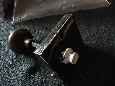 #56H antique vtg  metal door knob AS IS  with  lock 5