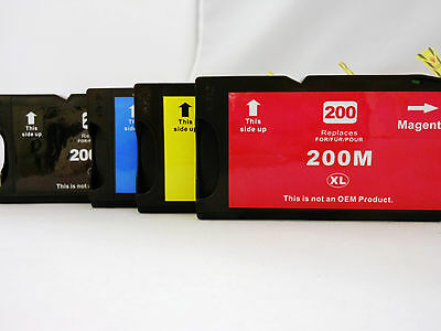 4PK 200 BK /& CLR XL Ink Cartridge for Lexmark OfficeEdge Pro4000 Pro5000 Pro5500