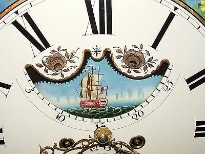 Antique Mahogany Halifax Moon Longcase Grandfather Clock : MADDOCKS FRODSHAM 7