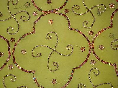 Bn Ladies/girls Net Saree & Blouse With Beadwork & Sequences 7