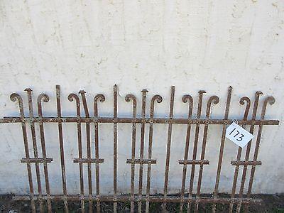 Antique Victorian Iron Gate Window Garden Fence Architectural Salvage Door #173 2