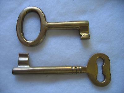 Large Brass Decorative Skeleton Keys - Two Keys to the City 5