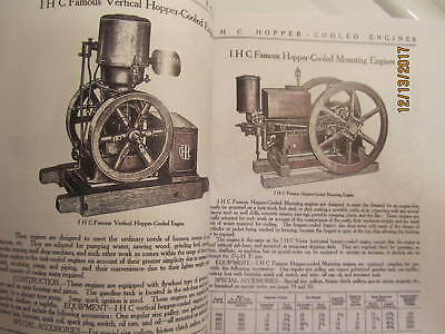 IHC International Harvester Gas Engine Catalog All sizes, hit miss, mags, pumps 5