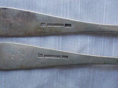 2 FREDERIK JULIUS BRINCK 1856 DINNER FORKS Norway 830 Sterling flatware 8
