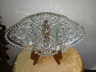 Vtg. Cut /Press Glass Dish 2