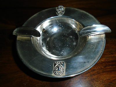 A Solid Silver (925) Art Deco Ash Tray with Incan Masks. 3