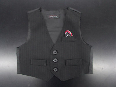 Infant Boys TFW $44 4pc Black /& White Vest Suit Sizes 6//9 Month 24 Month