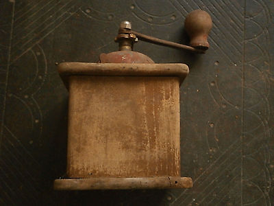 Old Rare Antique Wooden Crusher Grinder Mill 9