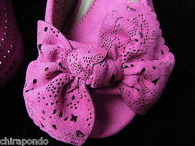 Sandalette Liberitae Schleifchen rosa Spitze zeitlos Gr. 37 mit Ersatzabsätzen 4