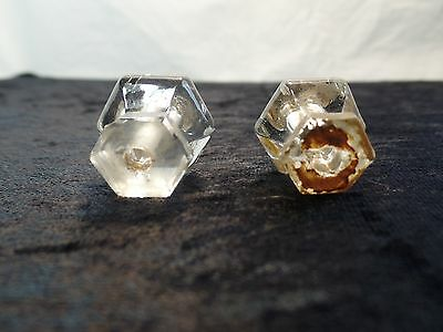 2 Piece True Vintage Glass Drawer Pulls 3