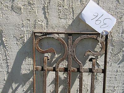 Antique Victorian Iron Gate Window Garden Fence Architectural Salvage Door #396 5