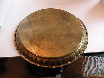 AIA414 BRASS ANCIENT EGYPT REPRODUCTION  TRAY, engraved chariot & horse design 6