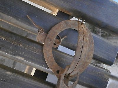 Antique Very Rare Old Hand Forged Wrought Iron Trap 10
