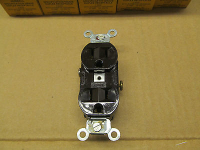 10 Nib Hubbell Hbl5242 5242 Receptacle Nema 5-15R 15A 125V 3W Brown(2 Available) 4