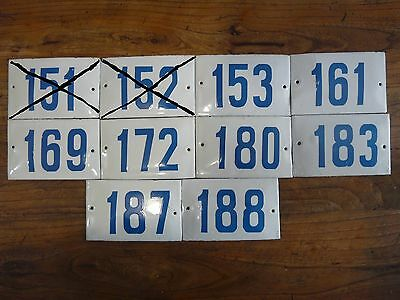Big Choice ( 2 to 188 ) Vintage Porcelain Enamel Tin Sign Street House Numbers 2