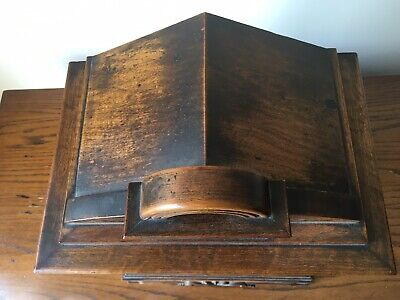 Antique Junghans Carved Oak Mantel Clock Westminster Chime Musical With Bracket 10