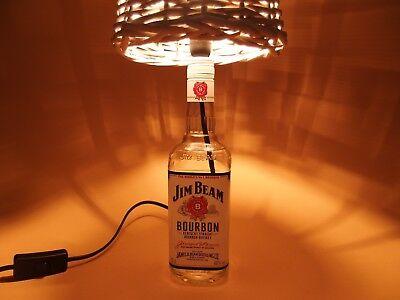 JimBeam - Flaschen Lampe Tischlampe LED 220V mit Schalter SEHR ORIGINELL S1-Korb 2