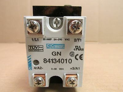 CROUZET GN 84134010 SOLID STATE RELAY 25 AMP 24280 VAC 332 VDC