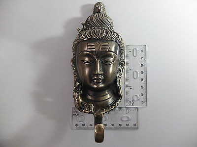 Vintage Antique Style Solid Brass Budha Face Wall Hook Hanger.coat/hat/key 4
