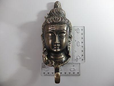 Vintage Antique Style Solid Brass Budha Face Wall Hook Hanger.coat/hat/key 4