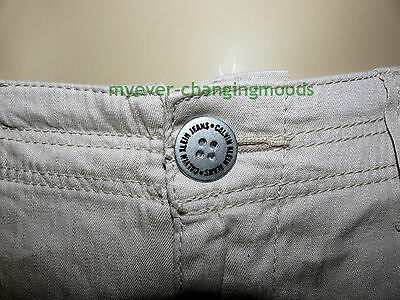 Calvin Klein Unisex Jeans 28 Waist 33 Inside Leg Stone Cream New Unworn Rrp £154 2