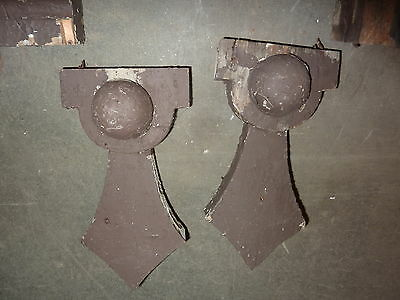 "LARGE pair c1870 GOTHIC victorian GINGERBREAD corbel house brackets 38 x 19 x7"" 4"