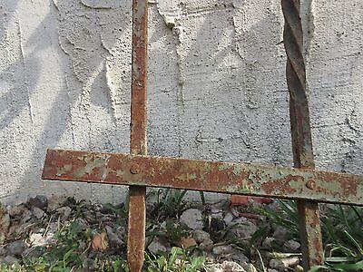 Antique Victorian Iron Gate Window Garden Fence Architectural Salvage #928 3