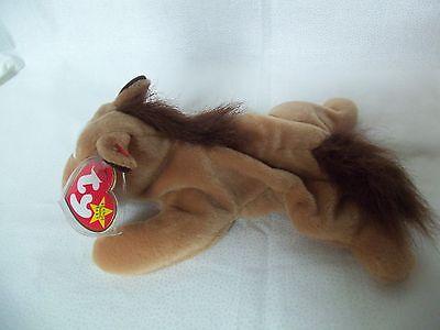 TY Beanie Babies Horse w/ Fur Mane & Tail ** DERBY**  5th Gen New w/ Tag