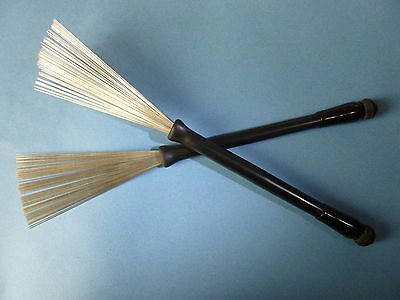 1 of 3FREE Shipping RETRACTABLE WIRE DRUM BRUSHES Ball End Original Premier Percussion Model